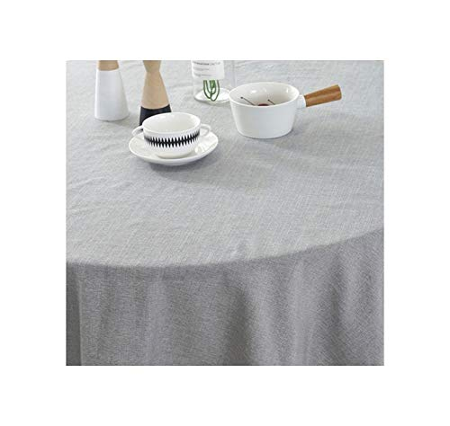 Modern Round Lace Tablecloth Cotton Linen Nordic Style Solid Color Home Decoration Tablecloth Outdoor,Dark Grey,110Cm (Best 50 Pint Dehumidifier 2019)