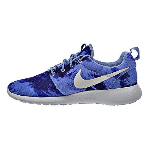 Nike Rosherun Print Herren Running Trainer 655206Sneaker Schuhe UK 6US 7EU 40Aluminium weiß Persischen violett 415