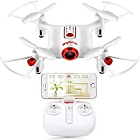 Syma X20W Mini 2.4G Headless Mode Quadcopter RC Drone with 0.3MP Camera Altitude Holding for Beginner White