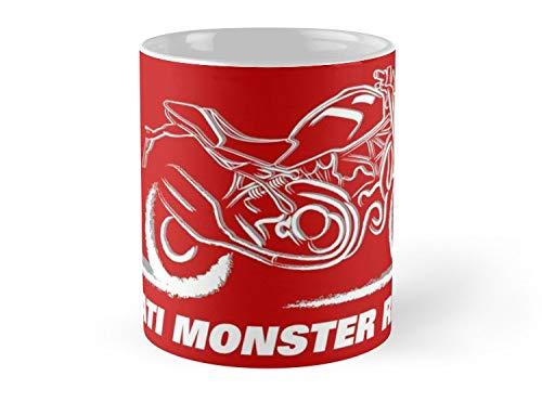 Ducati Monster Rider On Red Mug - 11oz - Made from Ceramic - Best gift for family friends]()