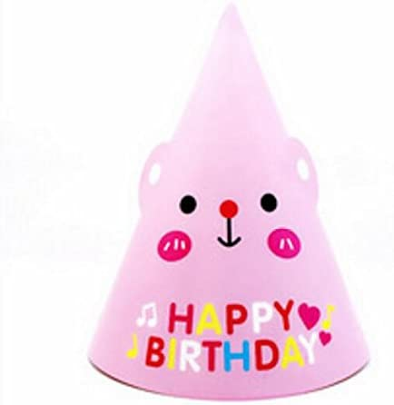 My First Teddy Birthday Party Cone Hats Pink