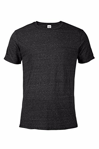 Casual Garb Men's Snow Heather Fitted T Shirt Short Sleeve Crew Neck T-Shirts for Men Black ()