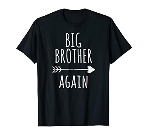 Big Brother Again Shirt for Boys with Arrow and Heart (Biggest Sister Big Sister Little Brother Shirts)