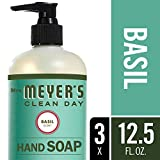 hands Mrs. Meyer´s Clean Day Hand Soap, Basil, 12.5 fl oz, 3 ct