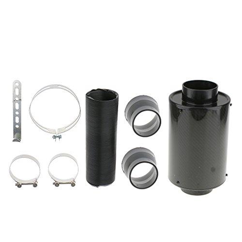 SM SunniMix 1Piece High Performance Car Air Filter Box Carbon Fiber Cold Feed Induction Kit 3inch Air Intake Set: