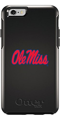 Coveroo Cell Phone Case for iPhone 6 - Retail Packaging - Black/Mississippi Ole Miss Design