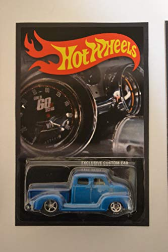 Hot Wheels '50s Chevy Truck Blue Custom-Made with Real Rider Rubber Wheels Limited Edition Exclusive Custom Car Series 1:64 Scale Collectible Die Cast Model Car]()