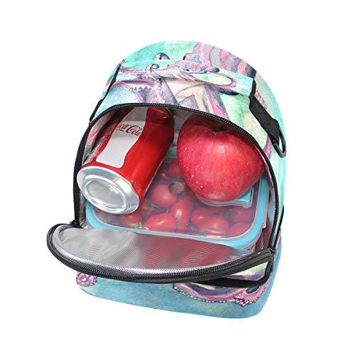 Bolso picnic de correa con para doble almuerzo ajustable pgqp6Tn