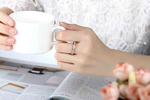 Amazon.com: Dixey Luxury Anillos Sortijas 18k de Compromiso Aniversario Matrimonio Boda Oro Plata Anel De Ouro Prata 925 Joyeria Fina para Mujer RI0015: ...