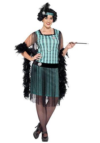 Smiffys womens Women's Plus Size 1920s Mint Coco Flapper Costume ...