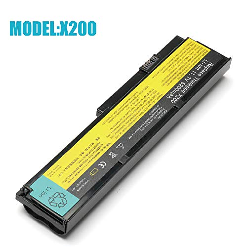 11.1V 5200mAh New Laptop Battery for Lenovo IBM Thinkpad X200 X200s X201 X201i,42T4534 42T4535 42T4543 42T4650 42T4834 42T4835 ()