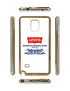 Samsung Galaxy Note 4 Fundas Golden Frame - LEVIS Brand Logo Dustproof Cover Fundas for Man