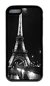 for iphone 6 4.7 Case Eiffel Tower At Night TPU Custom for iphone 6 4.7 Case Cover Black