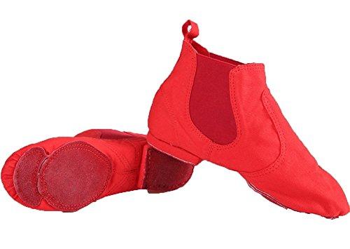Red Chaussures magique d'entraînement Toile XW de souples 40 Semelles du jazz de haut Haut danse danse Chaussures WX 34 ventre Boucle Chaussures TTq61A