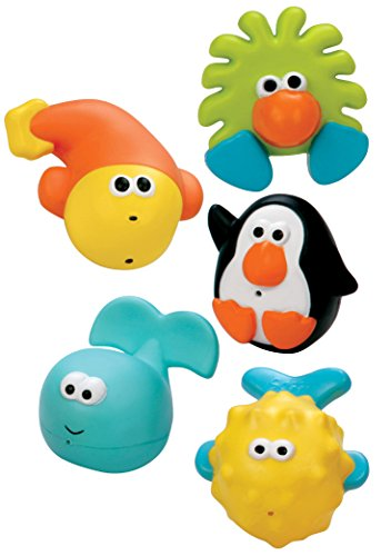 Sassy Bathtime Pals Squirt and Float Toys (Infant Bath Toy Sassy)