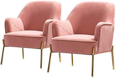 Nora Velvet Accent Chair Set of 2