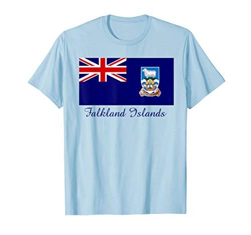 (Souvenir Falkland Islands Flag T-Shirt )