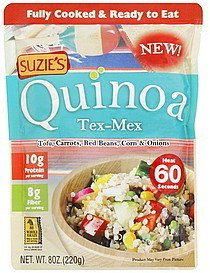 Suzie's Quinoa Ready-to-Eat & Fully Cooked Tex-Mex, 8 Ounce (Pack of 24) by Suzie's