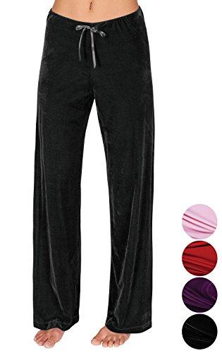 (Addison Meadow Pajama Pants for Women Soft Pajama Bottoms, Black, 3X/24-26)