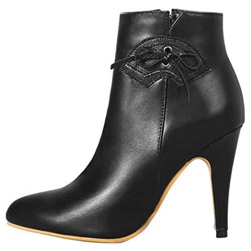 Women Black Sjjh Boots Women Ankle Sjjh qwEXnBP