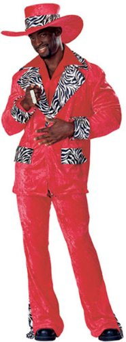 Red Hot Playa Pimp Costume - Large