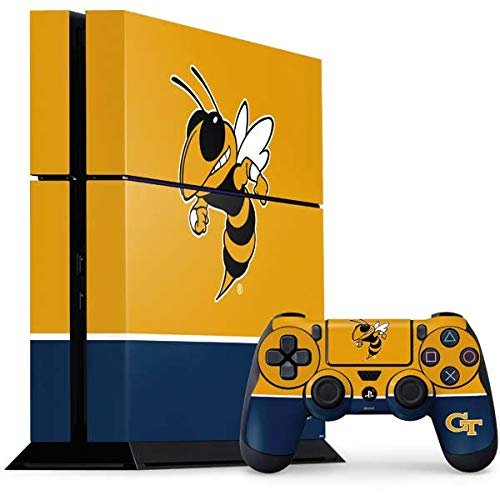 Skinit Decal Gaming Skin for PS4 Console and Controller Bundle - Officially Licensed College Georgia Tech Yellow Jackets Design
