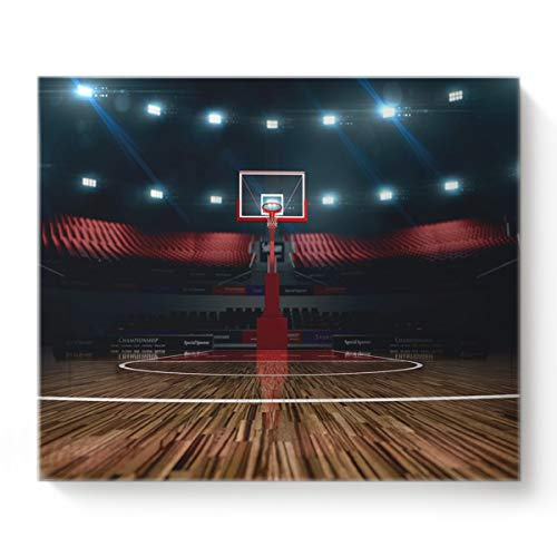 Canvas Print Wall Art for Living Room Indoor Basketball Court Stadium Wall Art Pictures for Home Decor Stretched and Framed Ready to Hang 12
