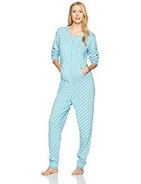 Amazon Brand - Mae Women's Sleepwear Vintage Thermal Loose Fit Onesie