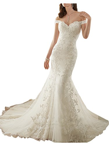 Lily Wedding Womens Lace Mermaid Wedding Dress for for sale  Delivered anywhere in Canada