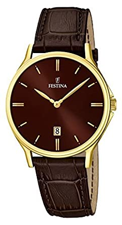 FESTINA watch mens leather band F16747 / 3 Mens [regular imported ...