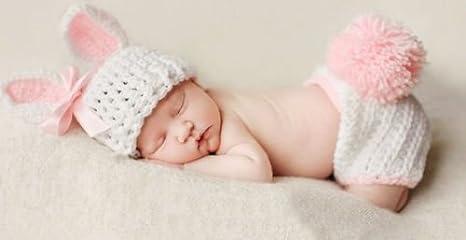 Disfraz de ganchillo de conejito rosa para recién nacido ...