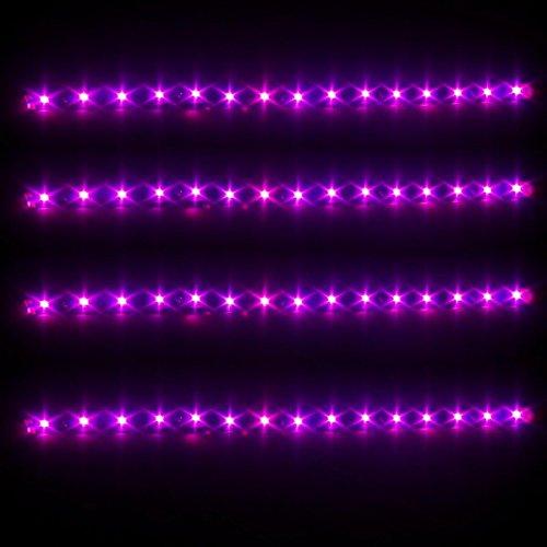 Partsam 4x 30CM 5050 SMD Car Waterproof DRL Driving Led Strip Lights Pink Purple 12V (Car Lights Pink compare prices)