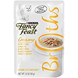 Purina Fancy Feast Broths With Tuna Chicken & Whitefish in a Decadent Creamy Broth Adult Wet Cat Food Complement - 1.4 oz. Pouch