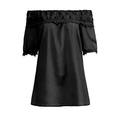 Personnalit Noir Courtes Femmes Automne l'paule Chic Vintage Nouveau Hors Loose Chemise Taille Unique Cebbay de Plus Mode Hiver Manches Classique lgance Blouse FnqxOwt1