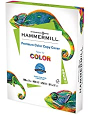 Hammermill Cardstock, Premium Color Copy, 100 lb, 8.5 x 11 - 1 Pack (250 Sheets) - 100 Bright, Made in the USA Card Stock