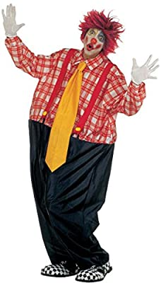 Mens Fat Clown Costume For Circus Fancy Dress