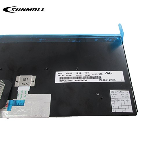 SUNMALL Backlit Keyboard replacement for Lenovo ThinkPad