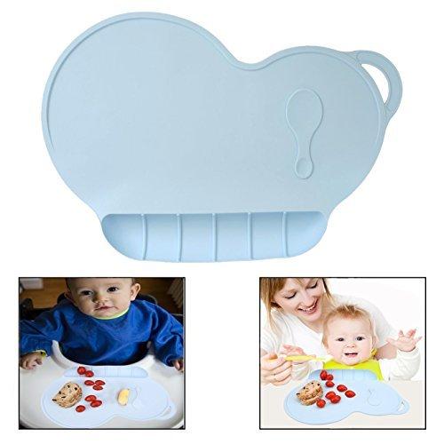 Itian Kinder Silikon Placemat Slip Resistant Wasserdicht Antibiose Geschirr Tischset f/ür Baby F/ütterung Platzset blue