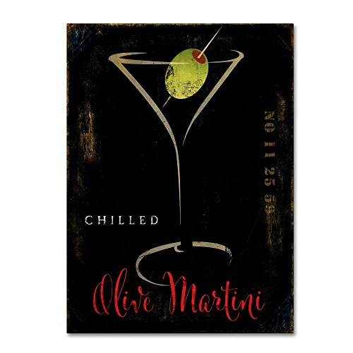 Olive Martini II by Color Bakery, 14x19-Inch Canvas Wall Art