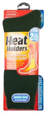 Grabber Warmers MHHORGFGR Thermal Socks, Forest Green, Men's Size 7 12