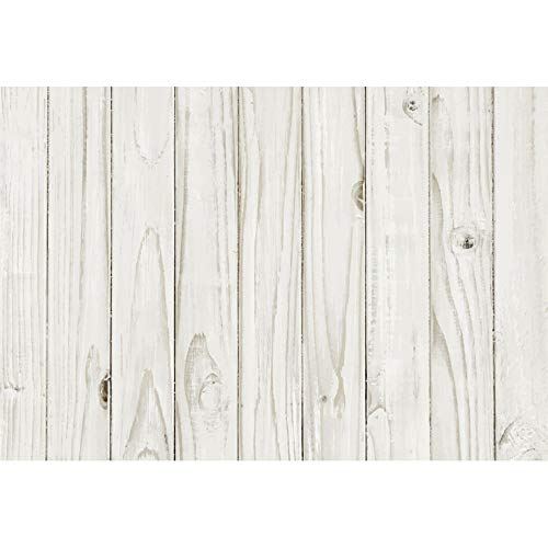 DORCEV 10x6.5ft White Wooden Floor Backdrop for Baby Shower Birthday Party Background Retro Texture Old Dirty White Wooden Wall Baby Shower Party Banner Baby Shower Kids Adult Photo Studio Props