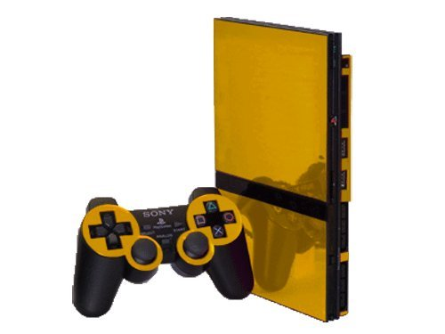 sony playstation 2 slim. amazon.com: sony playstation 2 slim (ps2 slim) skin - new gold chrome mirror system skins faceplate decal mod: video games playstation