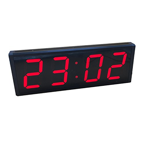 Countdown Timer Clock (BTBSIGN Smart Digital Countdown Clock LED Repeat Loop Timer With Remote Large 5'' 4Digit Red)