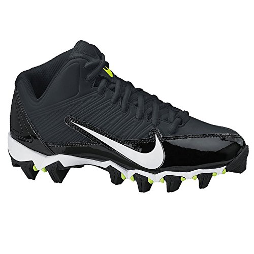 Nike Alpha Shark 3/4 GS Youth Football Cleats (5, Black/White-Black-Volt) - Image 1
