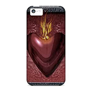 LJF phone case For iphone 6 4.7 inch Premium Tpu Case Cover Burning Heart Protective Case