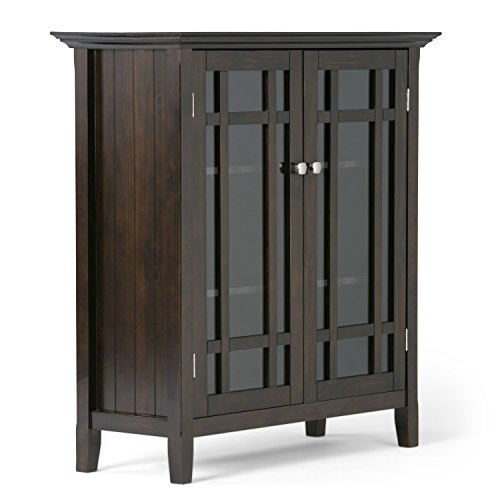 Simpli Home 3AXCBED-02 Bedford Solid Wood 39 inch wide Rustic Medium Storage Cabinet in Tobacco Brown