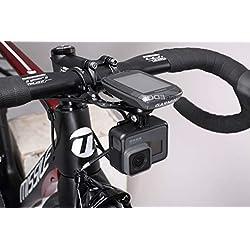 Garmin - Soporte para bicicleta, mejor Tek Garmin Gopro Combo Mount, Manillar Combo Mount para NiteRider Lumina, Garmin Edge Computer y GoPro Cámara de acción deportiva (negro combo de 31,8 mm)