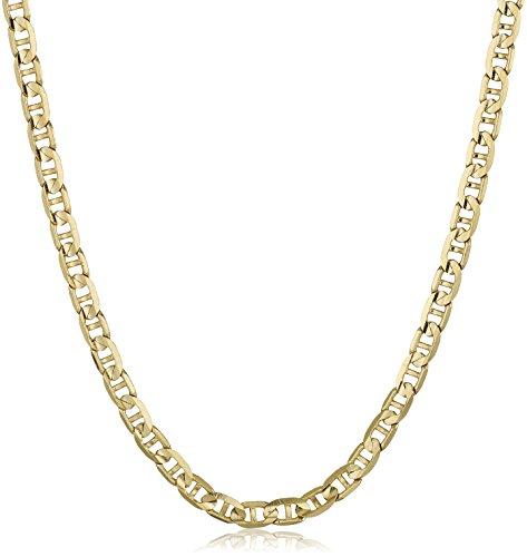 De los hombres cadena de oro amarillo de 14K 2,3mm Mariner collar