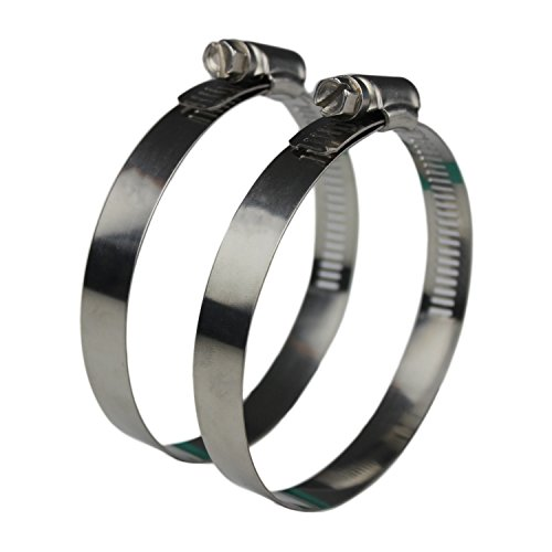 Ronteix Flexible Worm Gear Hose Clamp Full 304 Stainless Steel Clamps (70-90mm) ()