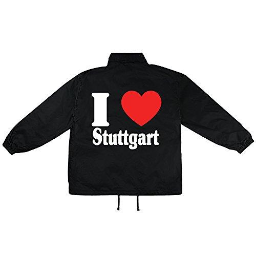 i Love Stuttgart Motiv auf Windbreaker, Jacke, Regenjacke, Übergangsjacke, stylisches Modeaccessoire für HERREN, viele Sprüche und Designs